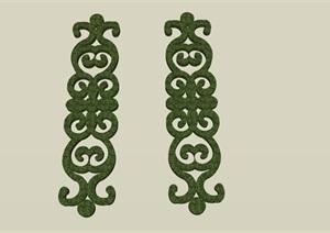 造型植物色块SU(草图大师)素材模型