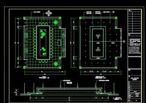 详细的完整整体小会议室设计cad详图