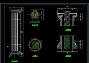陶立克柱详细设计cad详图