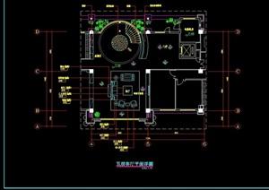 某详细的现代室内客厅装修cad施工详图