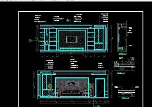 客廳電視背景墻詳細設計cad施工圖