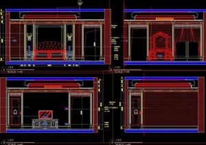 歐式主臥詳細完整設計cad立面圖