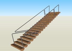 创意现代楼梯SU(草图大师)素材模型