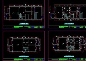 三層別墅空間ca平面裝修圖