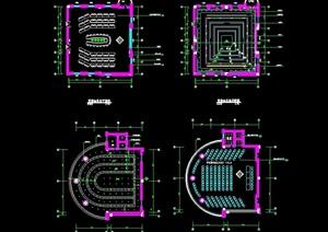 市政府办公楼多个会议室cad平面图