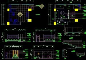 KTV包房详细完整设计cad施工详图
