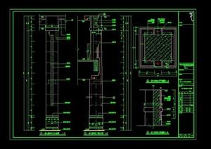 大堂吧装饰柱设计cad详图