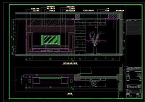 電視背景墻完整設計cad施工詳圖