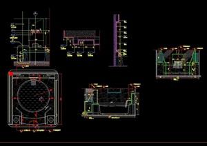 浴缸详细完整设计cad施工图