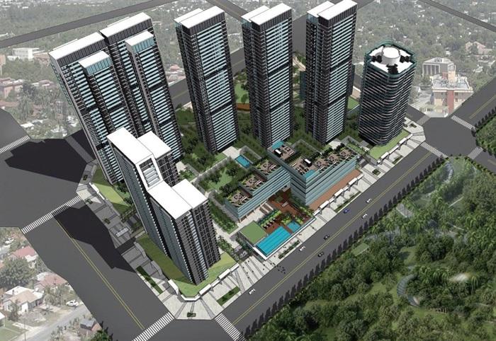 现代商业办公与住宅高层组团SU建筑模型与方案文本(7)