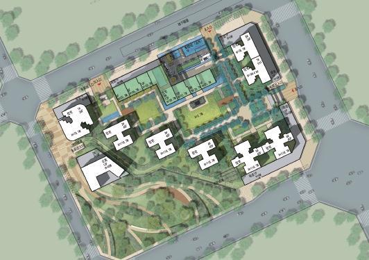 现代商业办公与住宅高层组团SU建筑模型与方案文本(13)