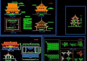 010-寺廟古建筑設計方案圖,cad施工圖內容豐富詳細,具有很高的學習價值,值得下載