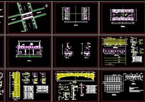 景观桥施工图全套,cad施工图内容丰富详细,具有很高的学习价值,值得下载