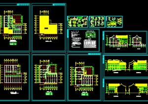 059-仿古清式三层公建建筑施工图