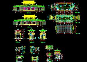 062-仿古山门建筑施工图