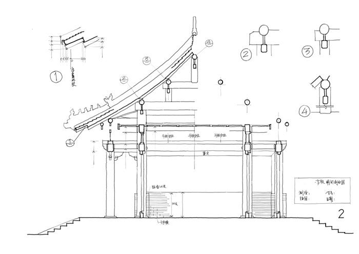 085-大学古建筑测绘图(3)
