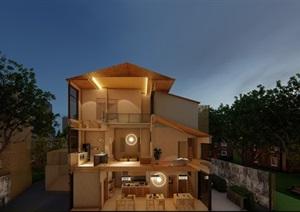 某现代日式室内设计方案模型及LUMION8文件