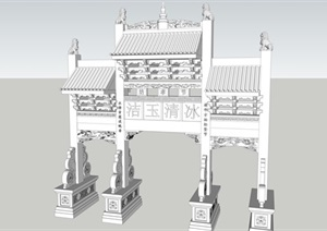 牌坊----模型丰富详细材质清晰,具有很高的学习价值,值得下载