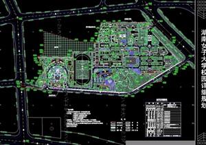 某详细女大校园详细规划设计cad总平面图