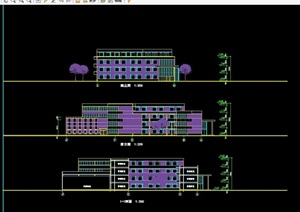 住宅小区内小学建筑设计cad方案图