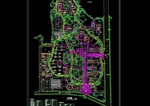 某详细的新校区规划设计cad方案