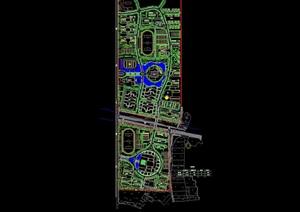 新校区整体规划设计cad总平面图含公寓楼