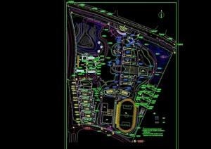 某详细的学校整体规划设计cad总图