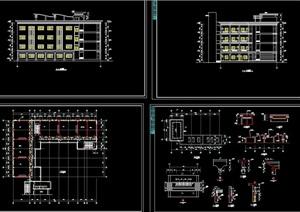 详细的多层学校教学楼全套建筑设计cad方案图