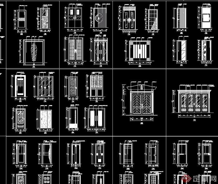 各類裝飾門cad圖集