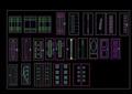 多種室內CAD常用千種圖塊之木門