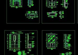 详细的室内门厅设计cad施工图
