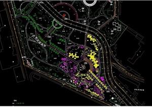詳細公園景觀設計cad方案圖