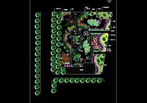 小游園公園景觀設計cad方案圖