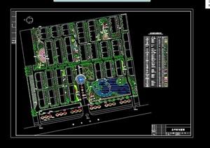 某详细的住宅小区景观设计cad方案图