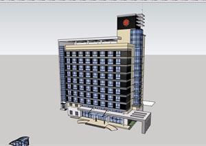 独特精致的医疗完整建筑设计SU(草图大师)模型