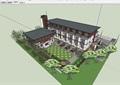 獨特詳細的教育建筑設計su模型