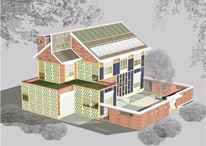 某欧式风格住宅别墅设计jpg施工图