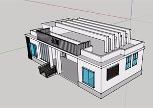 某单层公厕建筑设计SU(草图大师)模型