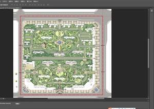大型楼盘彩色平面规划图ps素材资料