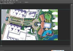 小区居住区彩色规划平面图ps素材资料