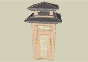 汉风塔楼----模型丰富详细材质清晰,具有很高的学习价值,值得下载