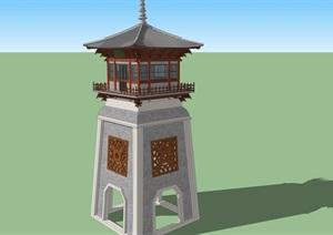 原创中式塔楼----模型丰富详细材质清晰,具有很高的学习价值,值得下载