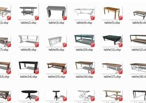 150款官方模型库桌子与茶几模型