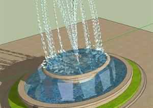 中央水池2----模型丰富详细材质清晰,具有很高的学习价值,值得下载