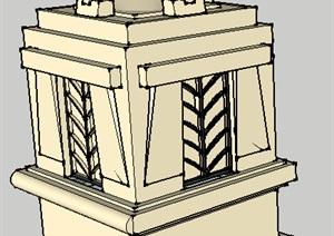 花钵柱----模型丰富详细材质清晰,具有很高的学习价值,值得下载