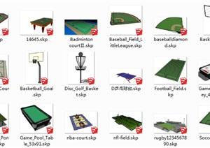 运动场地设施SU(草图大师)模型素材57个