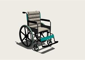 高精度的SKP模型-轮椅(豪华版)