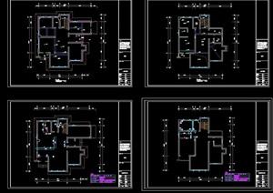 某详细的别墅室内完整装饰设计cad施工图