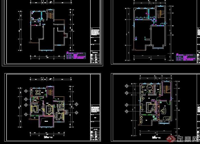 某詳細的別墅室內完整裝飾設計cad施工圖