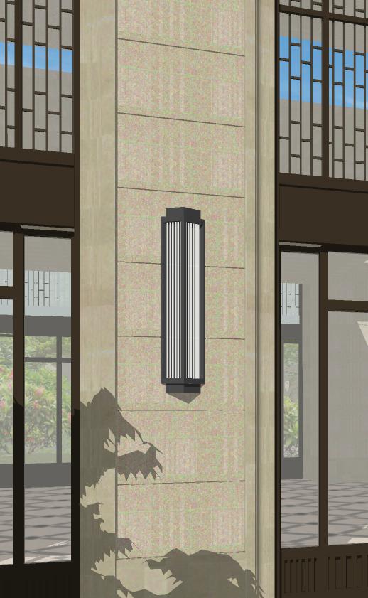 現代風格三角造型壁燈(3)